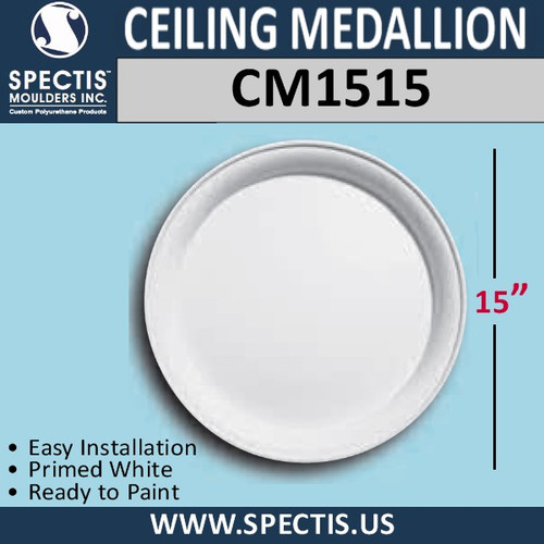 "CM1515 Decorative Ceiling Medallion 15"" Round"