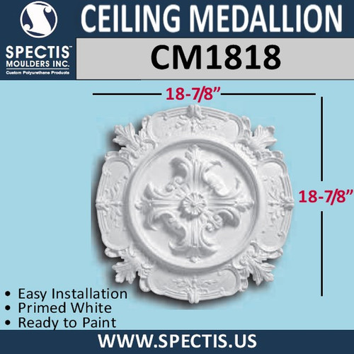 "CM1818 Decorative Ceiling Medallion 18-7/8"" Round"