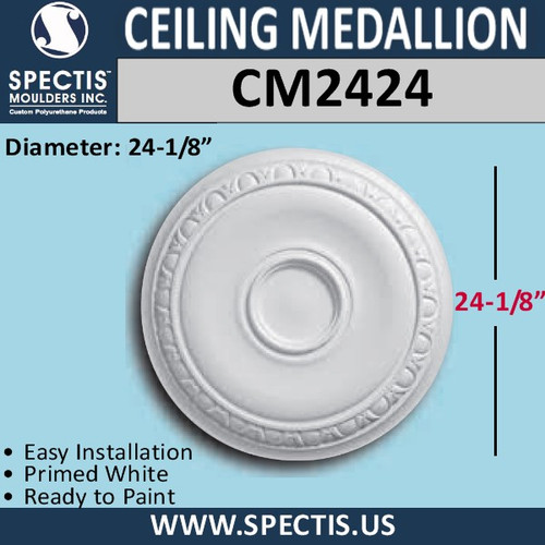 "CM2424 Decorative Ceiling Medallion 24-1/8"" Round"