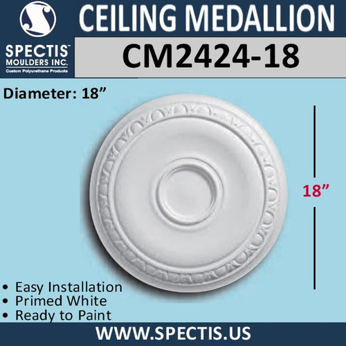 "CM2424-18 Decorative Ceiling Medallion 18"" Round"