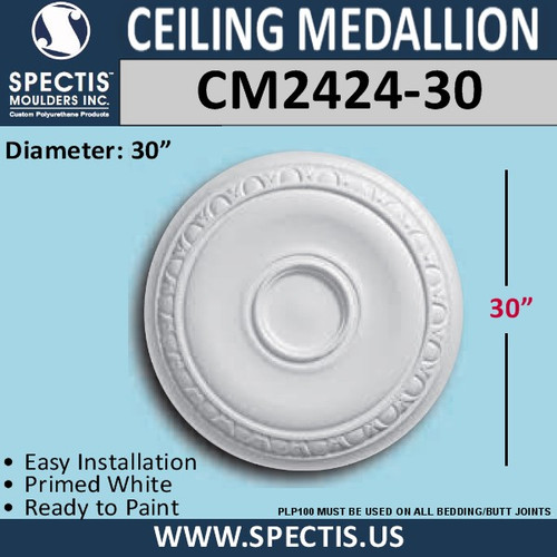"CM2424-30 Decorative Ceiling Medallion 30"" Round"