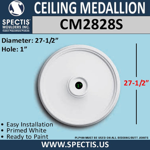 "CM2828S Decorative Ceiling Medallion 1"" Hole x 27.5"" Round"