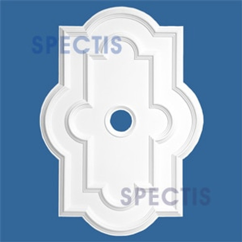 "CM3042 29 3/4"" x 41 5/8"" Rectangle Ceiling Medallion 4"" Hole"