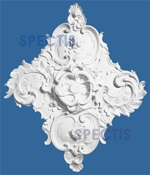 "CM3137 31 3/8 x 36 3/4"" Diamond Shape Decorative Ceiling Medallion"
