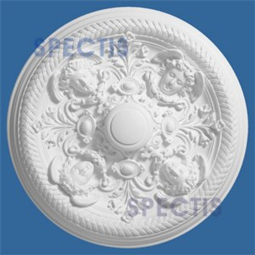 "CM3434 32-3/8"" Round Decorative Cherub Face Ceiling Medallion"