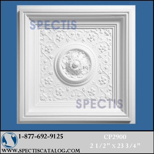 "CP2900 Decorative Ceiling Panel 23 5/8"" Square"