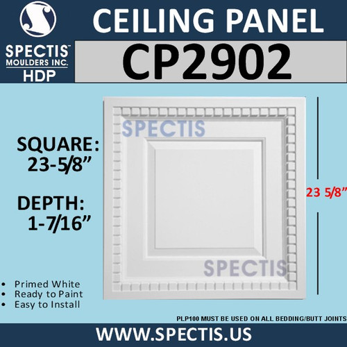 "CP2902 Decorative Ceiling Panel 23 5/8"" Square"