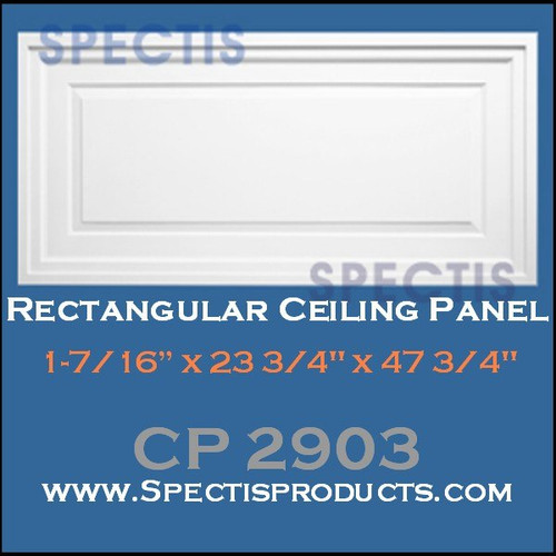 "CP2903 23 3/4 x 47 3/4"" Rectangle Ceiling Panel"