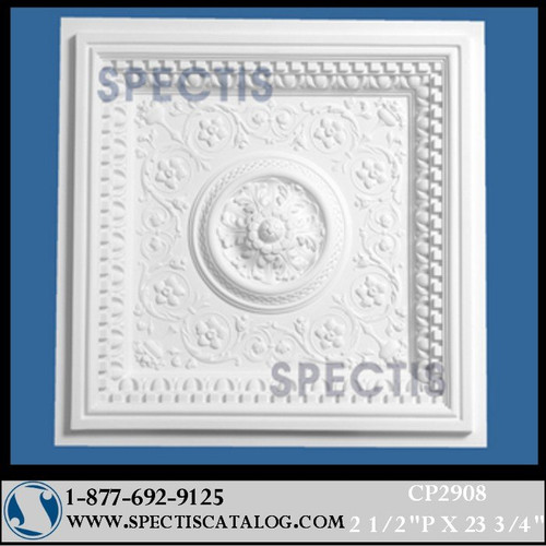 "CP2908 23 3/4"" Square Decorative Ceiling Panel"
