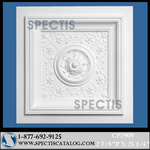 "CP2909 23 3/4"" Square Decorative Ceiling Panel"