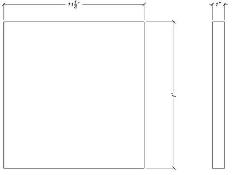 """CR108 11 1/2"""" x 12"""" Square Decorative Rosette"""