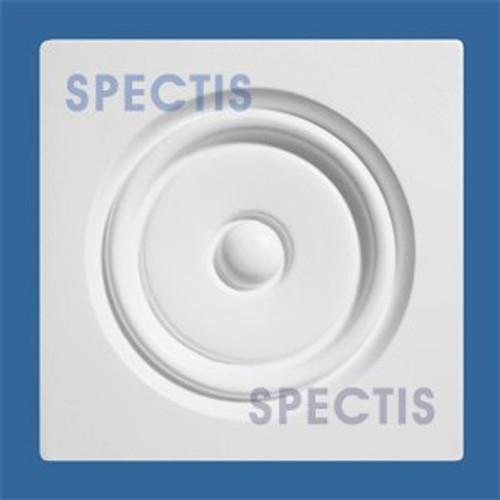 "CR550 5 3/8"" Square with Circle Decorative Rosette"