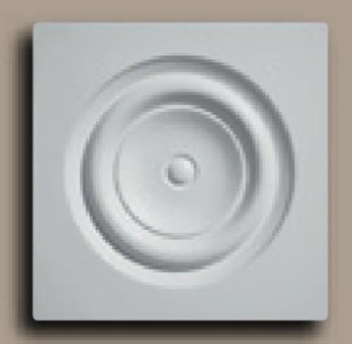 "CR551 5 3/4"" Square with Circle Decorative Rosette"