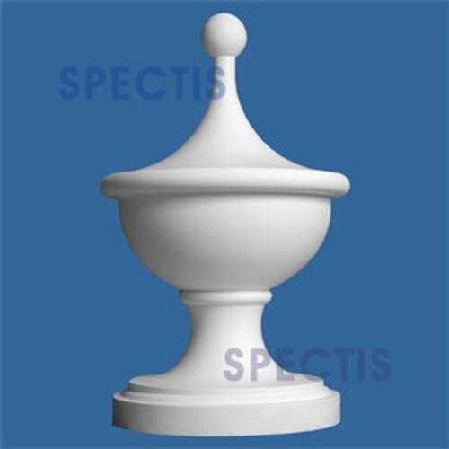 "FIN107 Urn Cup Urethane Finial 7 1/4"" x 13"""