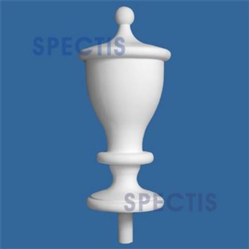 "FIN112 Tall Urn Style Urethane Finial 12"" x 30-1/2"""