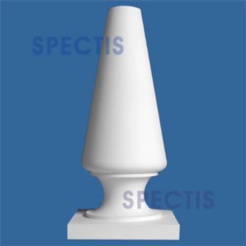 "FIN117 Cone Shape Top Urethane Finial 15"" x 32-1/2"""