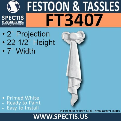 "FT3407 7"" x 22 1/2"" Spectis Urethane Left Tassel"