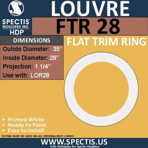 "FTR24 Round Flat Trim 28"" Center Hole"