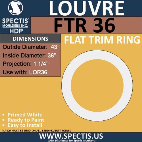 "FTR24 Round Flat Trim 36"" Center Hole"