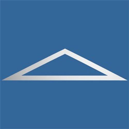 """FTT4114 Flat Trim Triangle 64"""" W x 22"""" H"""