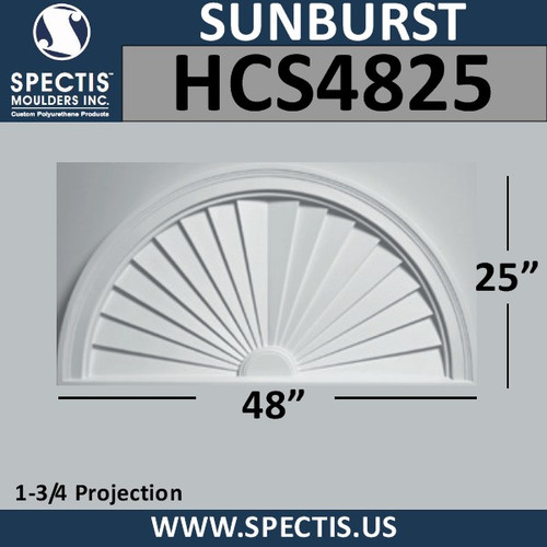 HCS4825 Half Circle Urethane Sunburst 48 x 25