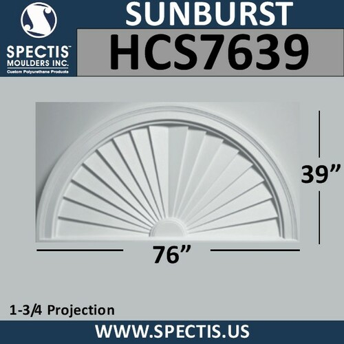 HCS7639 Half Circle Sunburst 76 x 39