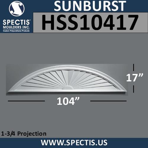 HSS10417 Urethane Sunburst 104 x 17