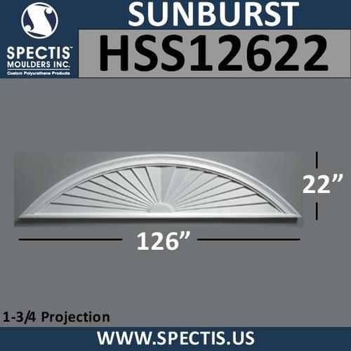 HSS12622 Urethane Sunburst 126 x 22
