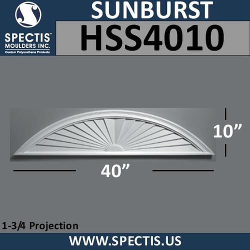 HSS4010 Urethane Sunburst 40 x 10