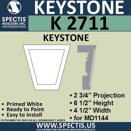 """K2711 Spectis Urethane Keystone 2 3/4""""P X 6 1/2""""H X 4 1/2""""W"""