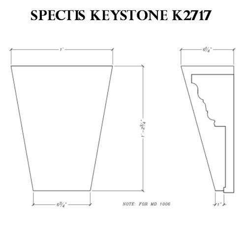 """K2717 Spectis Urethane Keystone 6 1/4""""P X 14 3/4""""H X 12""""W"""