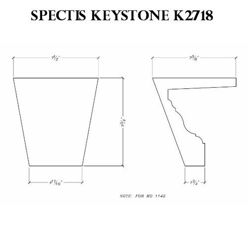 """K2718 Spectis Urethane Keystone 8""""P X 8""""H X 8""""W"""