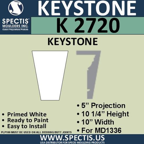 """K2720 Spectis Urethane Keystone 5""""P X 10 1/4""""H X 10""""W"""