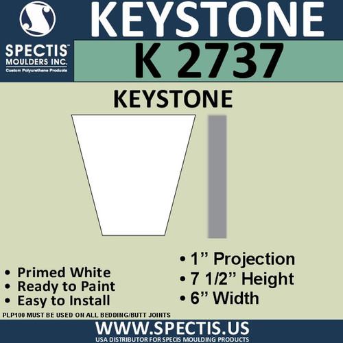 """K2737 Spectis Urethane Keystone 1""""P X 7 1/2""""H X 6""""W"""