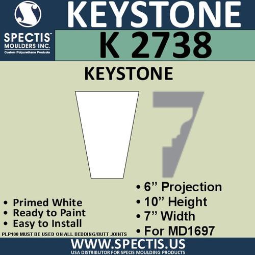 """K2738 Spectis Urethane Keystone 6""""P X 10""""H X 7""""W"""