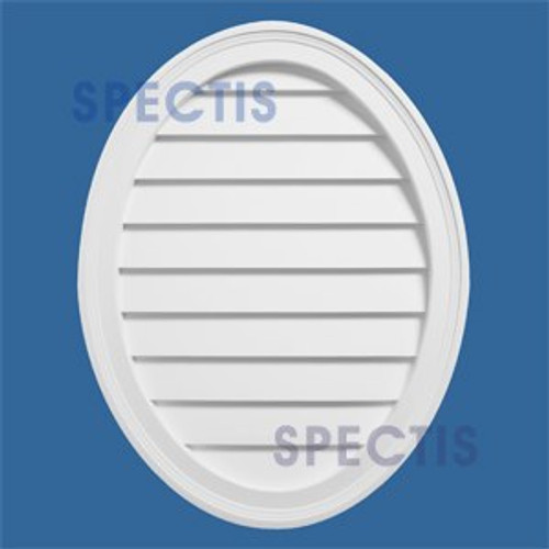 LCVO2127 Urethane Oval Closed Louver 21 x 27