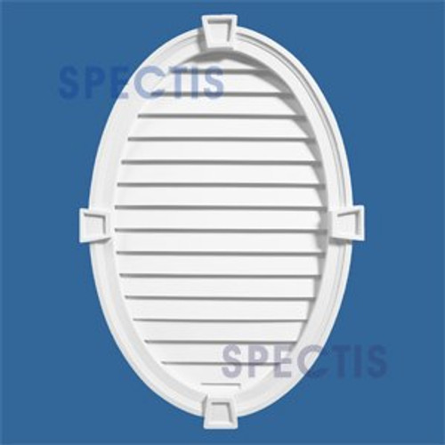LCVOK2430 Closed Oval Louvre with Keystone 24 x 30