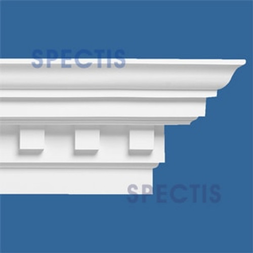 "MD1003 Crown Molding with Dentil 11 5/16""P x 17 3/4""H x 144""L"