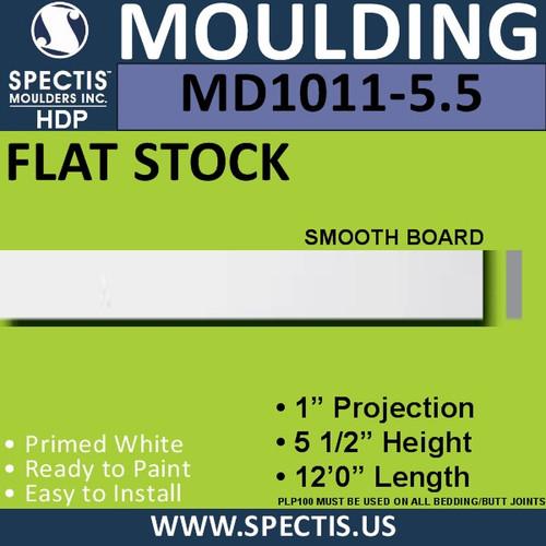 """MD1011-5.5 Spectis 1"""" Flat Trim 1""""P x 5 1/2""""H x 144""""L"""
