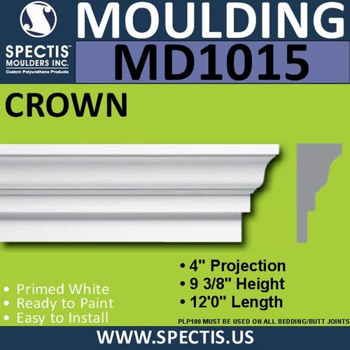 """MD1015 Spectis Crown Molding Trim 4 1/4""""P x 9 3/8""""H x 144""""L"""