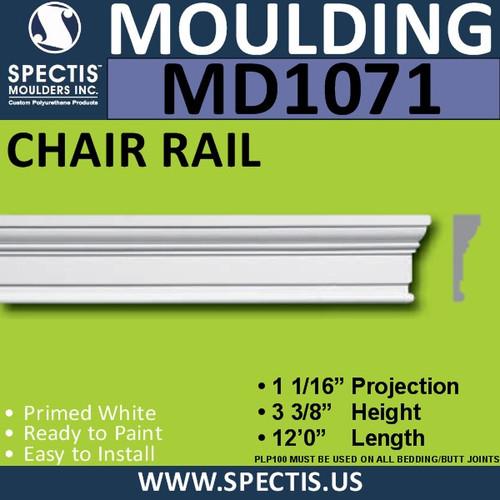 """MD1071 Spectis Molding Case Trim 1 1/16""""P x 3 3/8""""H x 144""""L"""