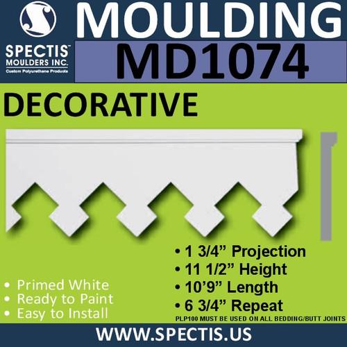 """MD1074 Spectis Molding Base Trim 1 3/4""""P x 11 1/2""""H x 10'9""""L"""