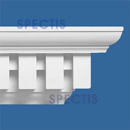 """MD1089 Spectis Crown Molding Dentil 5 3/8""""P x 8 1/8""""H x 144""""L"""