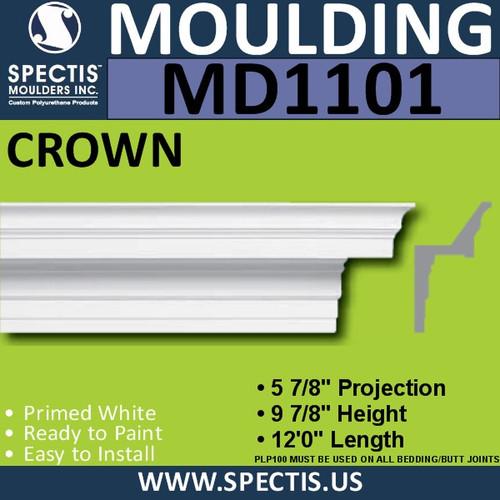 """MD1101 Spectis Crown Molding Trim 5 7/8""""P x 9 7/8""""H x 144""""L"""