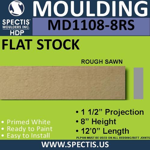 """MD1108-8RS Spectis Rough Sawn 1-1/2"""" Trim 1.5""""P x 8""""H x 144""""L"""