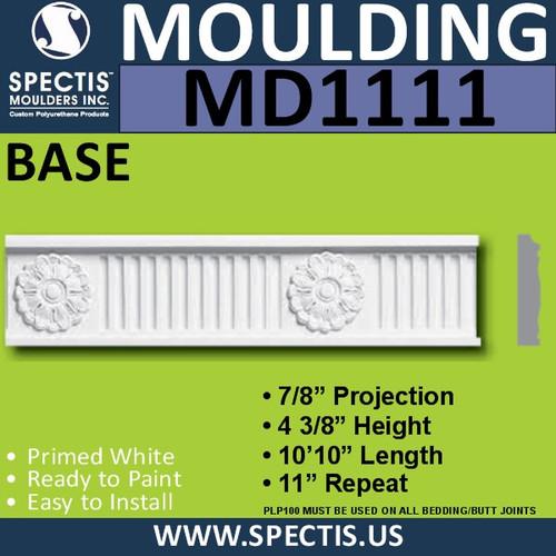 """MD1111 Spectis Molding Case Trim 7/8""""P x 4 3/8""""H x 130""""L"""
