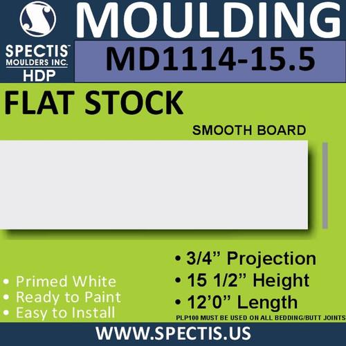 """MD1114-15.5 Spectis 3/4"""" Flat Trim 3/4""""P x 15 1/2""""H x 144""""L"""