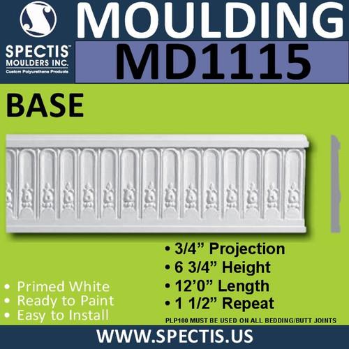 """MD1115 Spectis Molding Case Trim 7/8""""P x 7""""H x 144""""L"""
