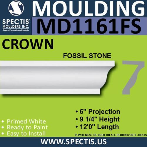 "MD1161FS Spectis Crown Fossil Stone Trim 6""P x 9 1/4""H x 144""L"