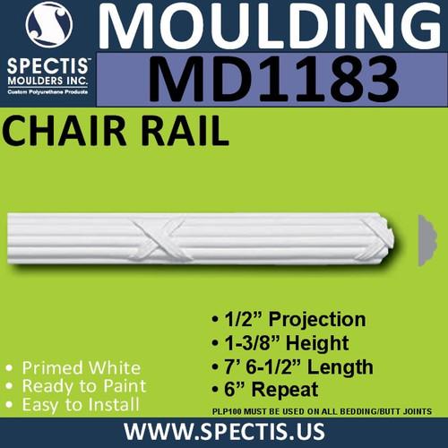 "MD1183 Spectis Molding Nose Trim 1/2""P x 1 3/8""H x 90 1/2""L"